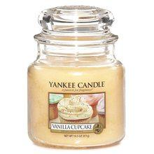 Yankee candle Svíčka ve skleněné dóze Yankee Candle Vanilkový košíček, 410 g
