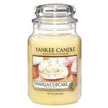 Yankee candle Svíčka ve skleněné dóze Yankee Candle Vanilkový košíček, 623 g