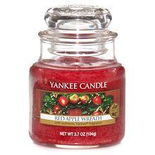 Yankee candle Svíčka ve skleněné dóze Yankee Candle Věnec z červených jablíček, 104 g