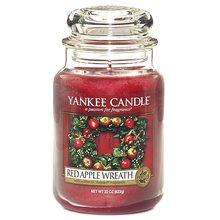 Yankee candle Svíčka ve skleněné dóze Yankee Candle Věnec z červených jablíček, 623 g