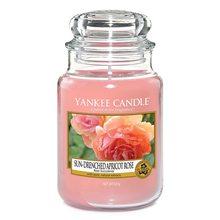 Yankee candle Svíčka ve skleněné dóze Yankee Candle Vyšisovaná meruňková růže, 623 g