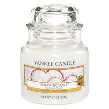 Yankee candle Svíčka ve skleněné dóze Yankee Candle Zamilovaný sníh, 104 g