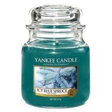 Yankee candle Svíčka ve skleněné dóze Yankee Candle Zledovatělý modrý smrk, 410 g