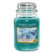 Yankee candle Svíčka ve skleněné dóze Yankee Candle Zledovatělý modrý smrk, 623 g