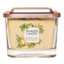 Yankee candle Svíčka ve skleněné váze Yankee Candle Fazole Tonka a dýně, 347 g