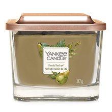 Yankee candle Svíčka ve skleněné váze Yankee Candle Hruška a čajové lístky, 347 g