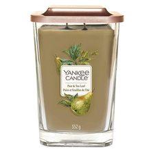 Yankee candle Svíčka ve skleněné váze Yankee Candle Hruška a čajové lístky, 552 g