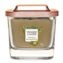 Yankee candle Svíčka ve skleněné váze Yankee Candle Hruška a čajové lístky, 96 g