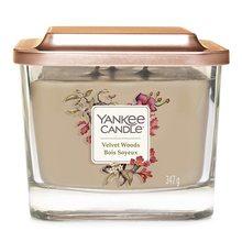 Yankee candle Svíčka ve skleněné váze Yankee Candle Sametové dřevo, 347 g