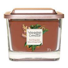 Yankee candle Svíčka ve skleněné váze Yankee Candle Sladký pomeranč a koření, 347 g