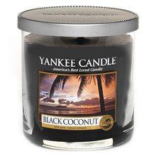 Yankee candle Svíčka ve skleněném válci Yankee Candle Černý kokos, 198 g