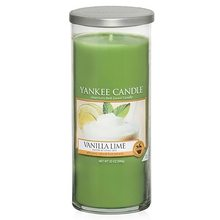 Yankee candle Svíčka ve skleněném válci Yankee Candle Vanilka s limetkami, 566 g