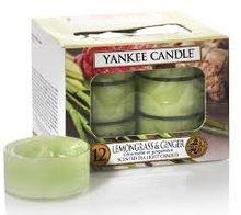 Yankee candle Svíčky čajové Yankee Candle Citronová tráva 12 ks