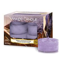Yankee candle Svíčky čajové Yankee Candle Sušená levandule a dub, 12 ks