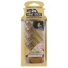 Yankee candle Vonné kolíčky Yankee Candle Vanilkový košíček, 4x osvěžovač do auta