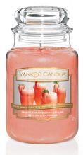 Yankee candle White Strawberry Bellini 623 g Bílý jahodový koktejl