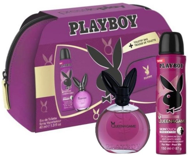 Playboy Playboy Queen of the Game For Her W EDT 40ml + deodorant 150ml + toiletry bag