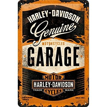 Harley Davidson Plechová cedule – Harley Davidson Garage