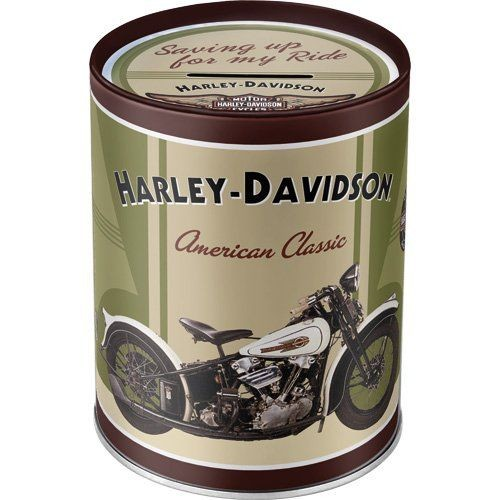 Harley Davidson Plechová kasička - Harley Davidson Knucklehead
