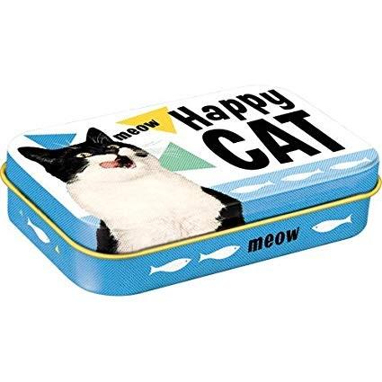 Nostalgic Art Plechové pouzdro Happy cat