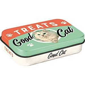 Nostalgic Art Plechové pouzdro Treats Good Cat