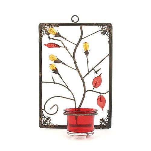Sunchi Svícen Sunchi 857-Svícen na stěnu obdelník červená