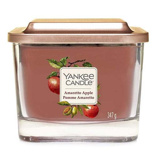 Yankee candle Svíčka ve skleněné váze Yankee Candle Amaretto s jablkem, 347 g